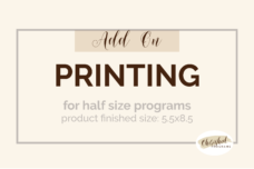 funeral programs printing